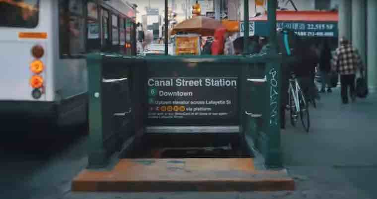 canal street subway station entrance new york city
