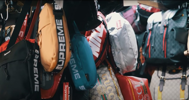 many brands of bags for sale at greenhills shopping center