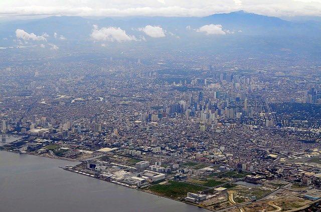 aerial view of massive Manilla philippines city