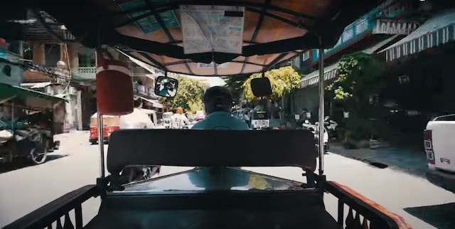 view while riding around Phnom penh in a tuk tuk is the easiest way to get around and to the central market