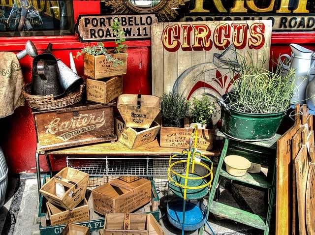 Exploring antiques at the famous portobello road market in london