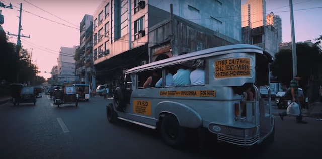 local transportation in manila at dusk