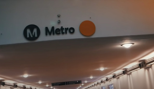 los angeles metro sign at union station transportation to chinatown