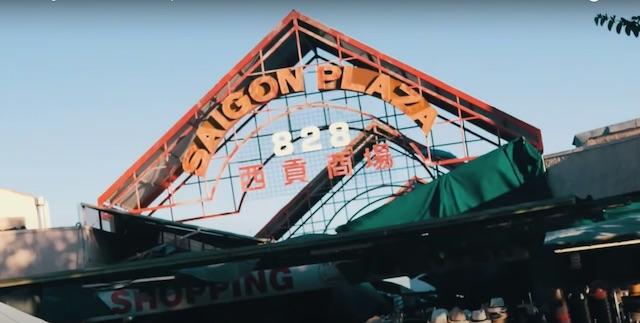 saigon plaza sign LA market in chinatown