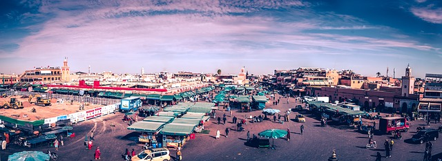 jemma el-fnaa market marrakesh from above