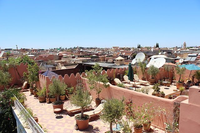 traditional riads in marrakesh with rooftop terraces